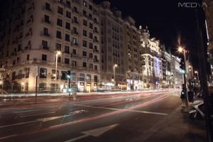 Filming in Madrid