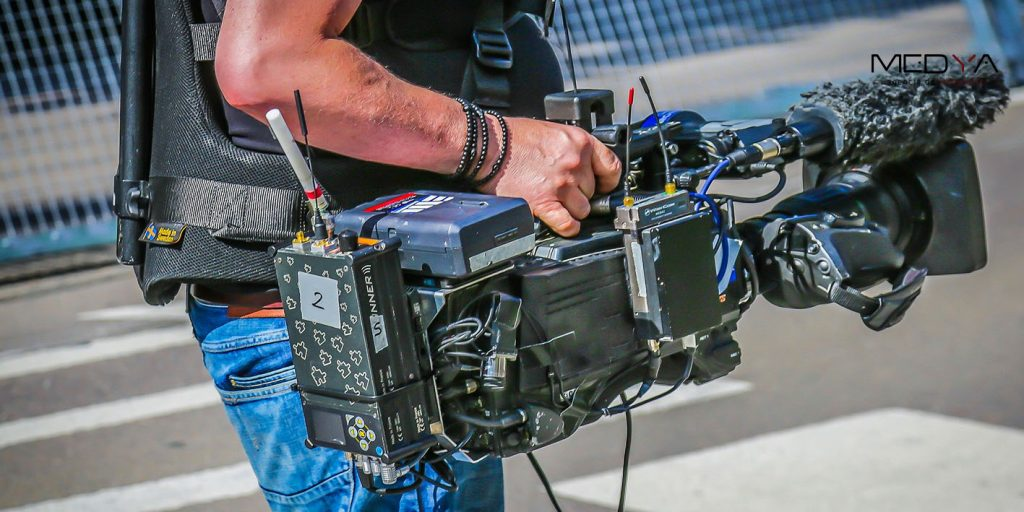 Equipo técnico de grabación audiovisual